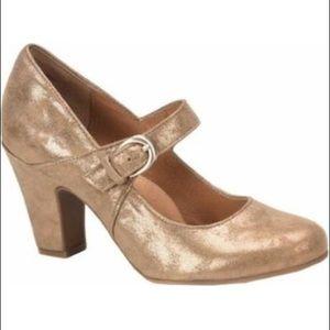 New Sofft Miranda Pumps Shoes Tan Gold 9.5